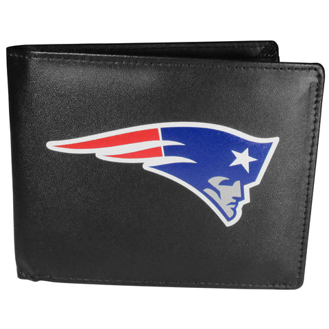 New England Patriots Mens Embroidered Leather Bi-fold Wallet