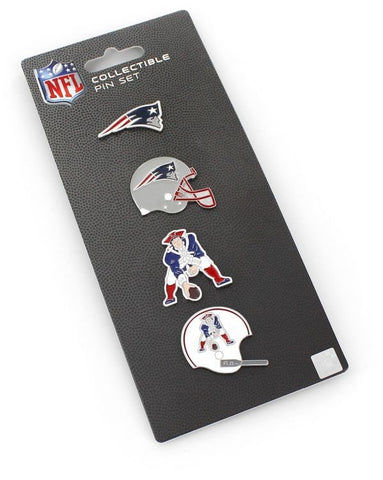 New England Patriots Pin Set Logo Evolution Collectible