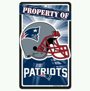 New England Patriots Bar and Home Decor Property of Sign