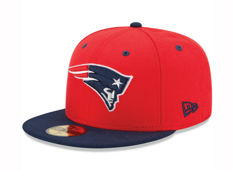New England Patriots New Era Fitted Red Navy Cap Hat