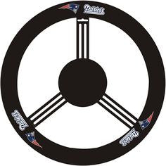 New England Patriots Auto Leather Steering Wheel Covers