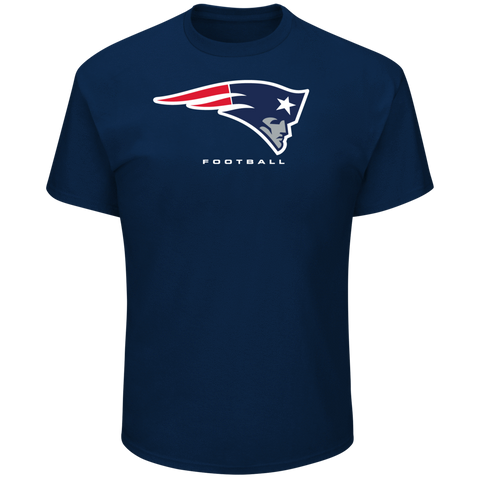 New England Patriots Mens T-Shirt Majestic Critical Victory Navy