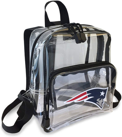 "New England Patriots ""X-Ray"" Mini Transparent 9"" Backpack"