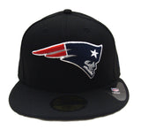 New England Patriots New Era Color Logo Fitted Cap Hat Black