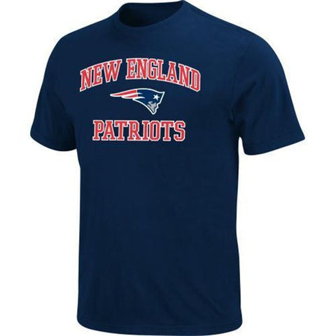 New England Patriots Mens Heart & Soul T-Shirt Navy