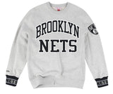 Brooklyn Nets Mens Mitchell & Ness Celebration Crew Neck Sweatshirt Grey Size XL