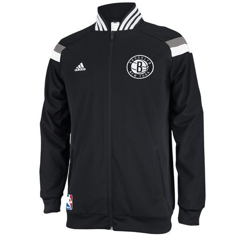 Brooklyn Nets Mens On Court Adidas Warm Up Full Zip Jacket
