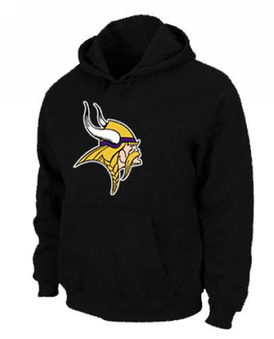 Minnesota Vikings Men's Logo Pullover Hoodie Sweatshirt Black
