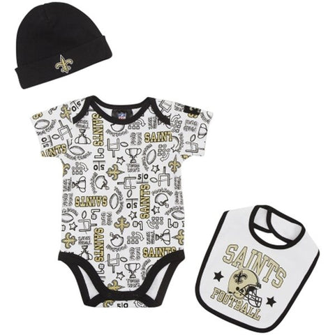 New Orleans Infant 3-Piece Bodysuit, Bib & Cap Set