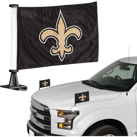 New Orleans Saints Auto Ambassador Flag Set