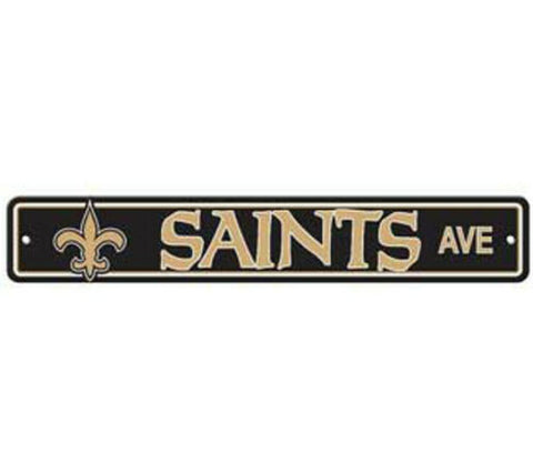 New Orleans Saints AVE Bar Home Decor Plastic Street Sign