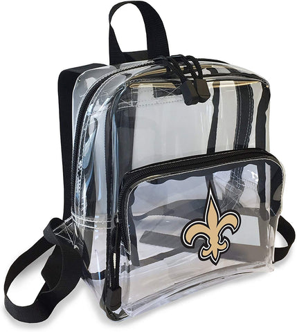 "New Orleans Saints ""X-Ray"" Mini Transparent 9"" Backpack"