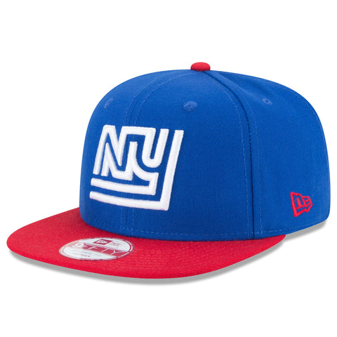 New York Giants Snapback New Era 9Fifty Baycik Blue Red Cap Hat