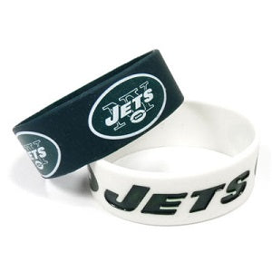 New York Jets Bulk Bandz Wide Bracelet 2 Pack