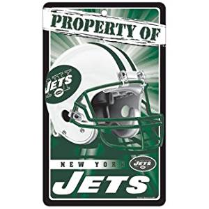 New York Jets Bar and Home Decor Property of Sign