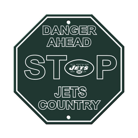 New York Jets Bar Home Decor Plastic Stop Sign