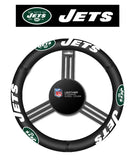 New York Jets Auto Leather Steering Wheel Cover