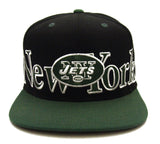 New York Jets Snapback Retro Big City Cap Hat 2 Tone Black Green