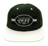 New York Jets Snapback Retro Billboard Cap Hat 2 Tone Green White