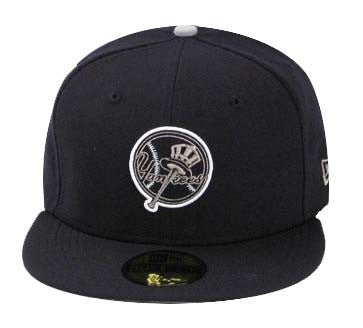 low priced 53ce1 7fbdc New York Yankees Fitted New Era 59Fifty Neon Sign Navy Cap Hat Size 7
