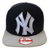 New York Yankees Snapback New Era 9Fifty Team Filler Cap Hat Navy Grey