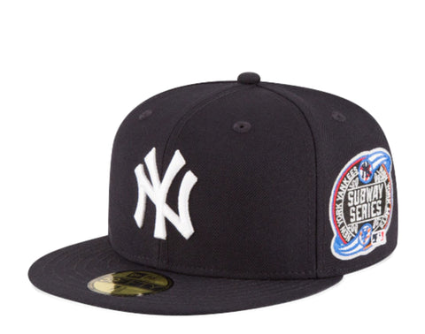 New York Yankees Fitted New Era 59FIFTY 2000 World Subway Series Cap Hat Grey UV