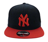New York Yankees Snapback American Needle Retro Replica Wool Cap Hat Navy Red