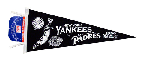 New York Yankees vs San Diego Padres Mitchell & Ness 1998 WS Felt Pennant