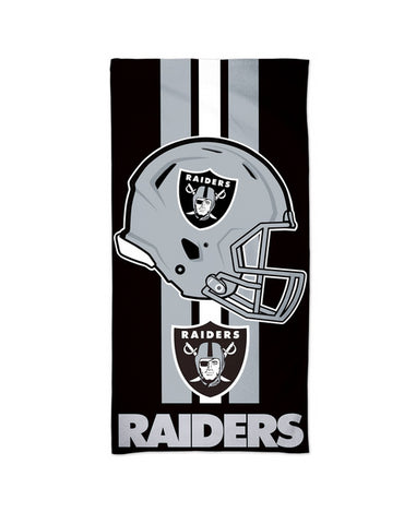 "Oakland Raiders Helmet Stripes Beach Towel 30"" x 60"""