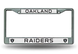 Oakland Raiders Chrome Auto Licensed Plate Frame