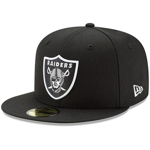 Oakland Raiders Fitted New Era 59Fifty Basic Black Cap Hat