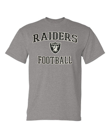 Oakland Raiders Mens T-Shirt Majestic Heart & Soul Grey