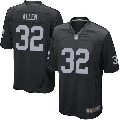 Oakland Raiders Mens Jersey Nike #32 Marcus Allen Replica Game Black