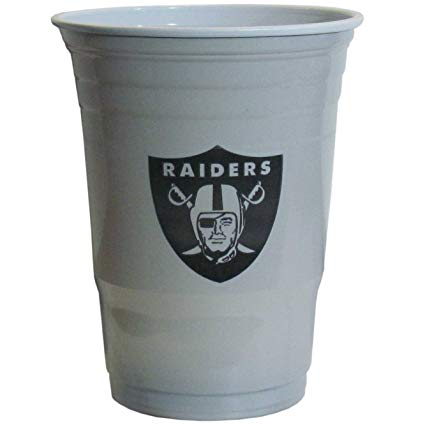 Oakland Raiders 18 Count 18oz Plastic Party Cups