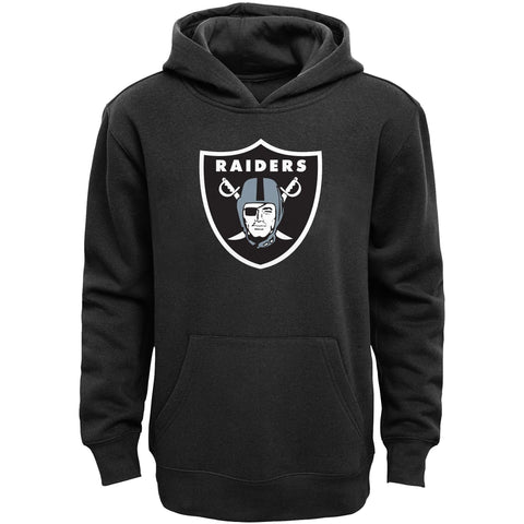 Oakland Raiders Youth Majestic Logo Pullover Hooded Sweatshirt Black