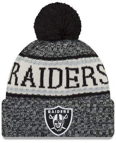 Oakland Raiders Beanie New Era 2018 Sideline Sport Knit Hat 3ec00ca07