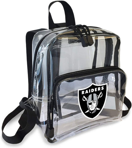 "Oakland Raiders ""X-Ray"" Mini Transparent 9"" Backpack"