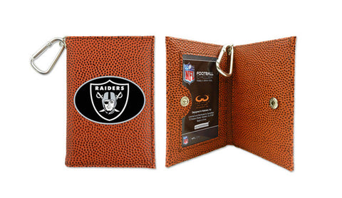 Oakland Raiders Football ID Holder Wallet