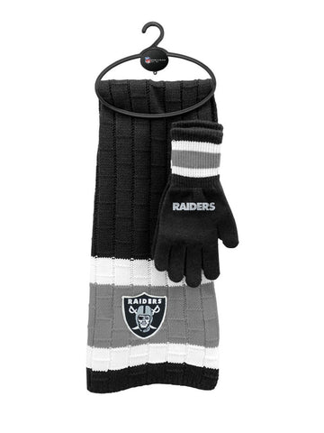 Oakland Raiders NFL Scarf & Glove Gift Set