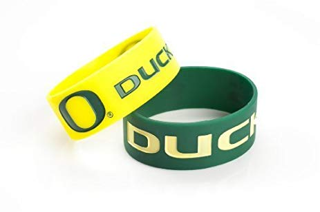 Oregon Ducks Bulk Bandz Wide Bracelet 2 Pack