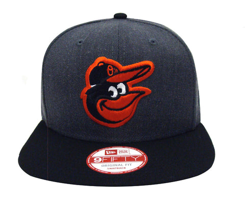Baltimore Orioles Snapback New Era Heather Graphite Cap Hat Charcoal Black