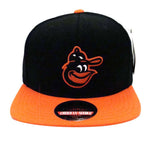 Baltimore Orioles Snapback American Needle Replica Wool Cap Hat Black Orange
