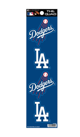 Los Angeles Dodgers The Quad 4-Pack Decal