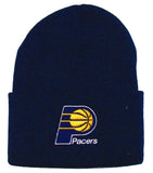 Indiana Pacers Vintage Embroidered Beanie Fold Cap Navy