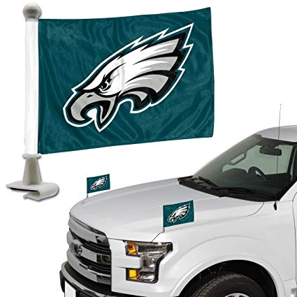 Philadelphia Eagles Auto Ambassador Flag Set