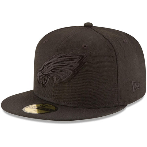 Philadelphia Eagles Fitted New Era 59Fifty Black on Black Cap Hat