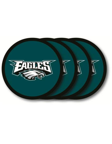 Philadelphia Eagles 4 Piece Vinyl Coasters Set