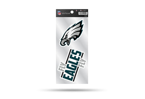 Philadelphia Eagles Double Up Die Cut Sticker 2pc