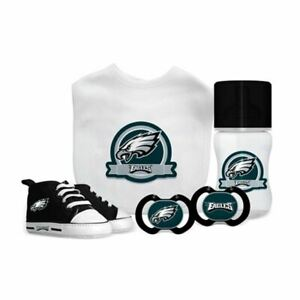 Philadelphia Eagles Baby Essentials 5 Piece Infant Gift Set New