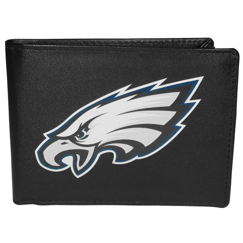 Philadelphia Eagles Mens Embroidered Leather Bi-fold Wallet